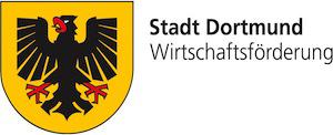 Wappen Stadt Dortmund, Schriftzug Stadt Dortmund Wirtschaftsförderung